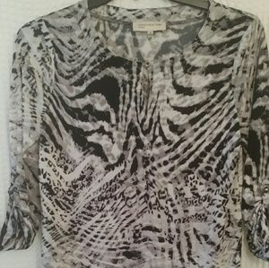 Jones New York Animal Print Top